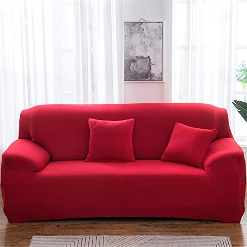 Funda De Sofá Elástica De Color Sólido De Poliéster, Sala De Estar En Casa, Funda De Sofá con Todo Incluido, Toalla De Sofá Antideslizante 4 Seater (230-300 cm)