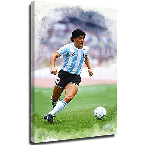 MRFSY Maradona Poster Canvas Wall Art for Living Room Picture Prints Artwork for Living Room Bedroom 20'x30'