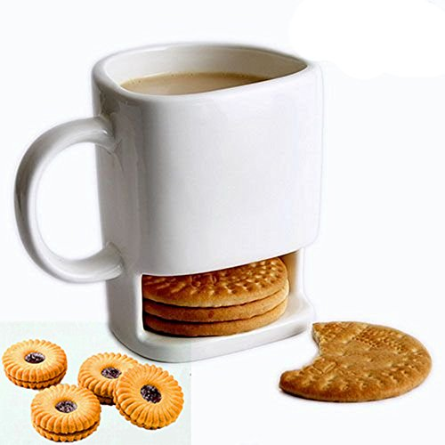Weird mug with biscuit holder