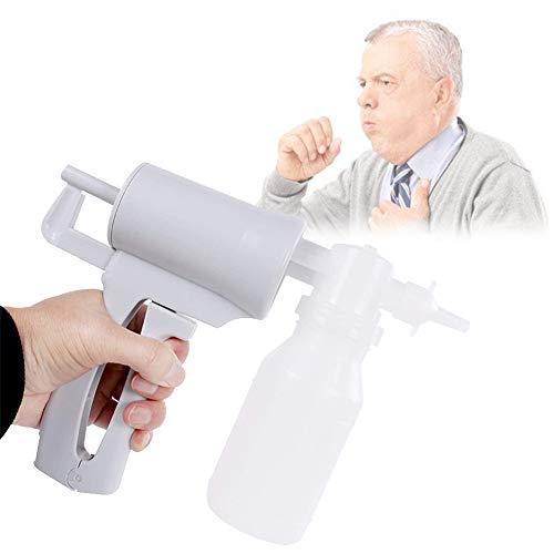 HAIT Bomba de Succión Manual Portátil, Máquina de Secreción Moco de Flema con Dispositivo Antidesbordamiento, Pajitas, Fácil de Usar para Ancianos y Niños