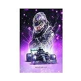 F1 Racer Lewis Hamilton Leinwand Poster Schlafzimmer Dekor