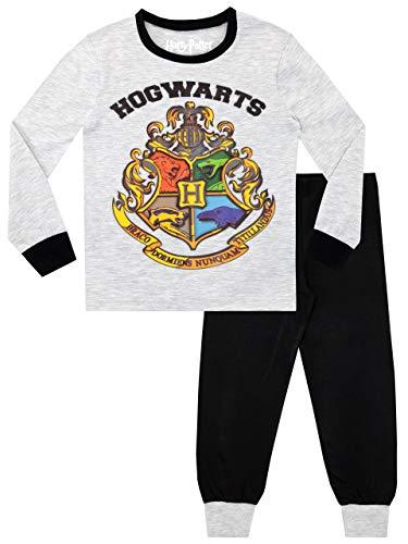 HARRY POTTER Pijamas de Manga Corta para niños Ajuste Ceñido Gris 7-8 Años