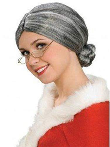 Rubie's- Parrucca da donna anziana, colore Grigio, costume da adulto- Taglia unica