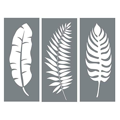 Schablonen Nordic Set of 3 - Leaves