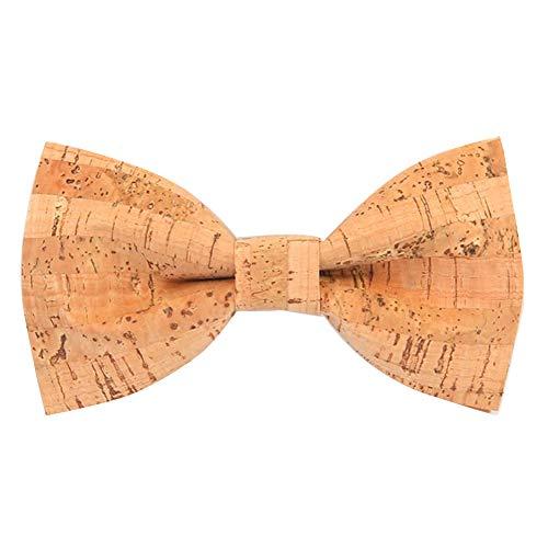 AIEOE Nœud Papillon Homme Bow Tie en Bois Cravate Fantaisie Accessoire Déco pour Soirée Businesse Mariage Cérémonie Fête Costume Necktie orange Taille unique