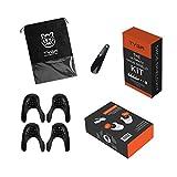 TYGA Store | Kit de protection pour chaussures – 4 Protection anti-pli – Convient aux tailles EU 35-46 | Noir – 2 paires + corne + sac de transport + boîte cadeau