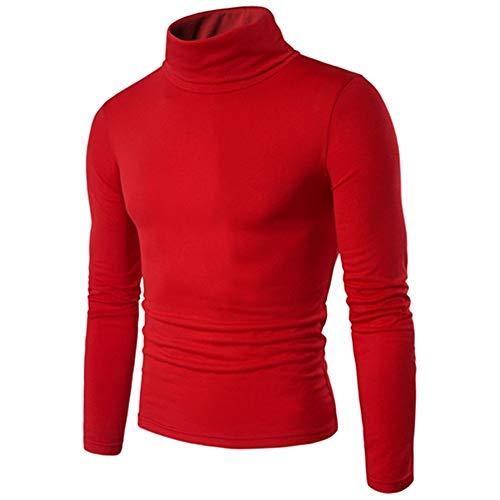 ZYUD Herren Basic Langarm Baumwolle Polohemd Golf T-Shirt Herren Thin Thermal T-Shirt...