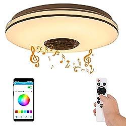 1. Interrupteur mural / télécommande --- Cette lampe LED à économie dénergie peut être facilement contrôlée par une télécommande 2.4G et un interrupteur mural, ce qui est plus pratique et facile à utiliser. 2. Haut-parleur Bluetooth Premium --- Haut-...