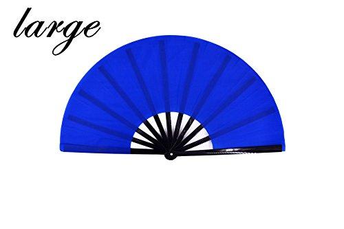 meifan Large Chinese Kung Fu Tai Chi Hand Fan for Men/Women, Hand Held Dance Folding Fans, Gift Fan, Performance Fan (Blue)