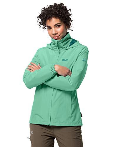 Jack Wolfskin Damen Stormy Point Jacket W atmungsaktive Regenjacke, Grün (pacific green), M