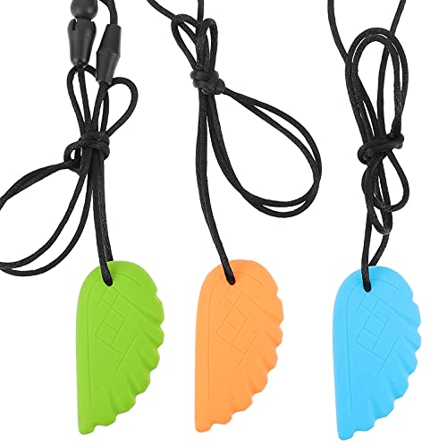 TOYANDONA 3 Piezas de Collar de Mordedor para Mordedor con Motor Oral para Niñas para Autismo Lactancia O Necesidades para Niños Y Adultos Chewers