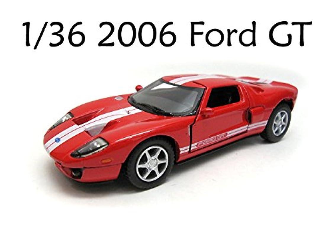 スロープまっすぐ慣れている1/36 2006 Ford GT フォード 赤 ミニカー おもちゃ 男の子 車 レーシングカー スポーツカー