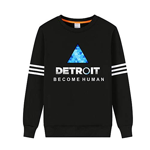 Detroit Become Human Unisex Fashion Loose Sweat-Shirt Sweats Hiver Chaud Confortable Sweat-Shirts Hommes Femmes Hiver Chaud Amant Col Rond Pullover