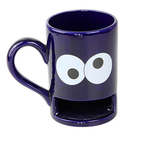 Donkey Products - Mug Monster Keks-Becher | Lustige blaue Tasse mit praktischem Keksfach für krümelnde Monster