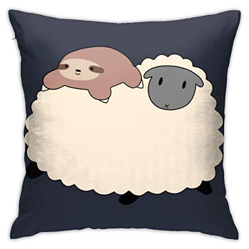 INGXIANGANCHI Gongqi - Funda de almohada con cremallera (45,7 x 45,7 cm), diseño de ovejas