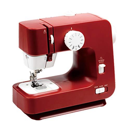 ZHHAOXINPA lichte 12 steken naaimachines perfect voor gevorderden en beginners naaimachine, multifunctionele naaimachine, huishouden en reisgebruik kinderen klassiek, rood