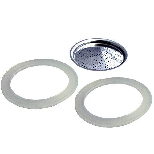 GEFU Dichtungsringe und Filter für Espressokocher Emilio Filter Espressokocher Ersatzteile