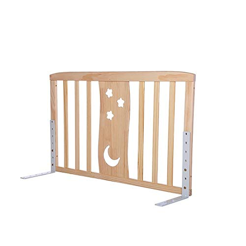 Cylficl Bed Rails, Vertical Lifting Safety Bedrail Bed Guard, Child Toddler Wood Bed Bumper (Size : 60cm)
