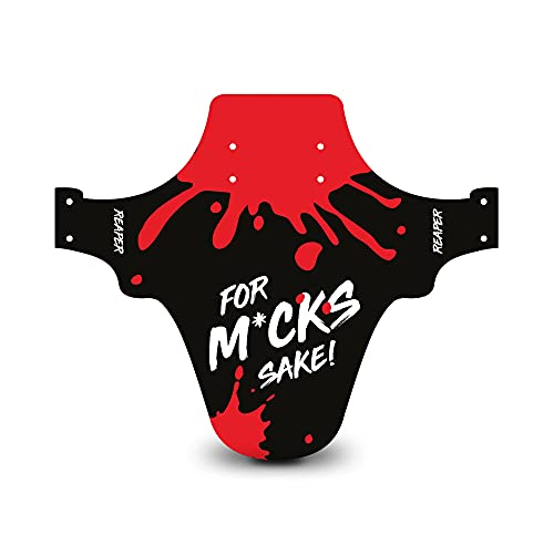 Reaper Accessories Easy-fit Front Mountain Bike Mud Guard Cycle Cycling Fender - Fits 24', 26' & 27.5' - For M*ck's Sake! Red Enduro