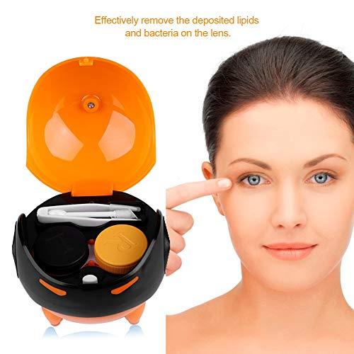 Winnfy Kontaktlinsen Reinigungsmaschine USB Aufladen USB Wiederaufladbare Kontaktlinsenreiniger Waschmaschine Fall für Outdoor Aktivitäten Reisegeschäft Tägliche Pflege Orange