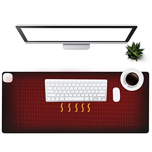 Warm Desk Pad, Olidik 3 Speeds Touch Con...