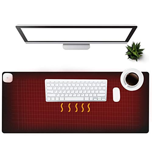 Warm Desk Pad, Olidik 3 Speeds Touch Con...