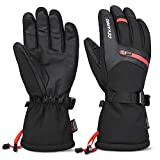 Cevapro -40℉ Winter Gloves Waterproof Ski Gloves 3M Insulated Snowboard Gloves (Black, M)
