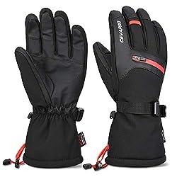 Cevapro Skihandschuhe Warme Winterhandschuhe wasserdichte Snowboard HandschuheTouchscreen Handschuhe für Herren Frauen zum Wintersport wie Skifahren Motorradfahren Fahrradfahren (XL)
