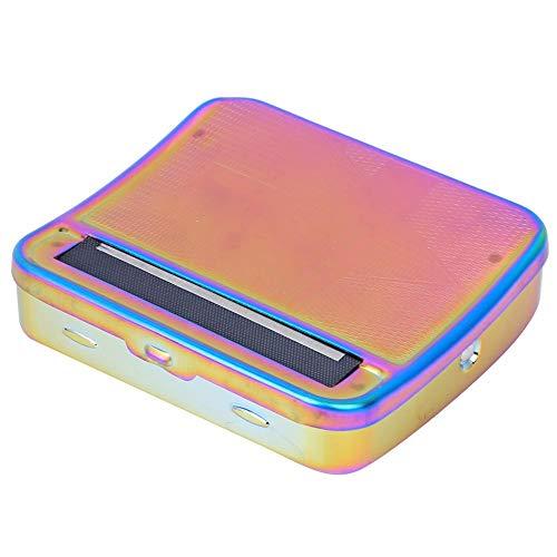tongzhou Zigarettenrolle Metallbox Bunt einstellbar Manuelle Walze Rauchzubehör 70mm(bunt)