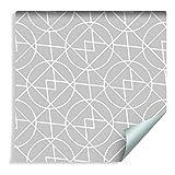 Muralo 249044367 - Papel pintado geométrico abstracto, tonos de gris, vinilo artístico, tecnología de diseño