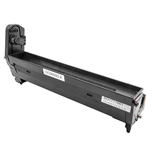 vhbw Trommeleinheit Bild-Trommel schwarz passend für Laser-Drucker Oki C5500 N, C5550 MFP, C5550 N MFP, C5800, C5800 DN, C5800 LDN, C5800 N, C5900
