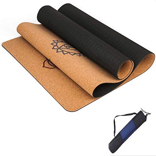 XIAOHE X-H Natuurlijke Kurk Yoga Mat Voor Fitness Gym Sportmatten Pilates Oefening Pads Antislip Yoga Matten 5 Mm Absorb Sweat Odorless,183X68cm