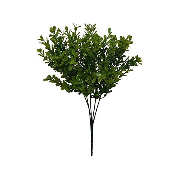 Boxwood Bush 13″ 5 Stems Greenery Silk Wedding Flowers Decor Artificial ART1