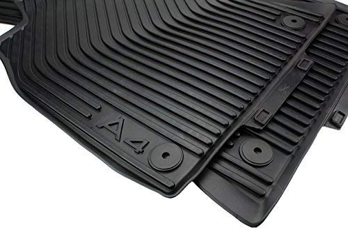 kfzpremiumteile24 Tappetini in gomma Tappetini da pavimento in materiale originale nero in gomma nero a 2 pezzi
