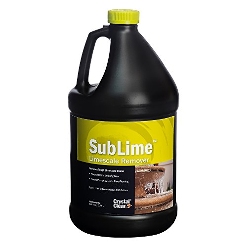 CrystalClear Sublime Limescale Remover, Removes Build-Up & Debris in Water Features, 1 Gallon Treats up to 1,280 gallons of Water