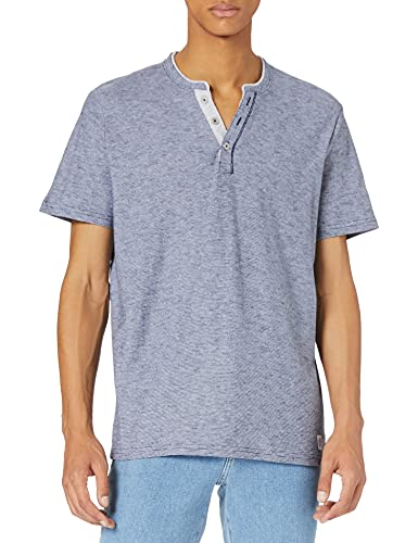 Tom Tailor 1026162 Striped Camiseta, Raya Azul Oscuro 10435, XL para Hombre