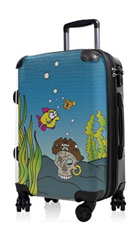 HAUPTSTADTKOFFER - Style Handgepäck Hartschalenkoffer Koffer Trolley, individuell gestalten, Geschenkidee, Design: Aquarium