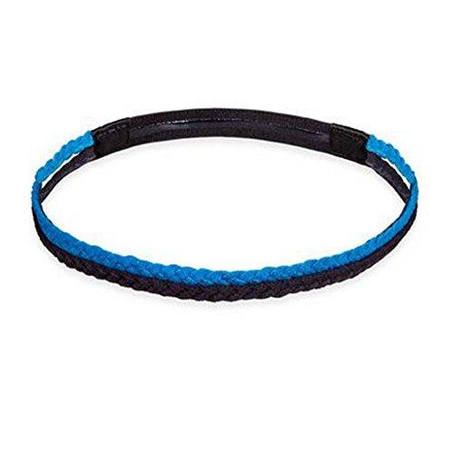 Black Temptation Femmes/Hommes Yoga Headband Non-Slip Hair Band Headwear Sport_Bleu Noir