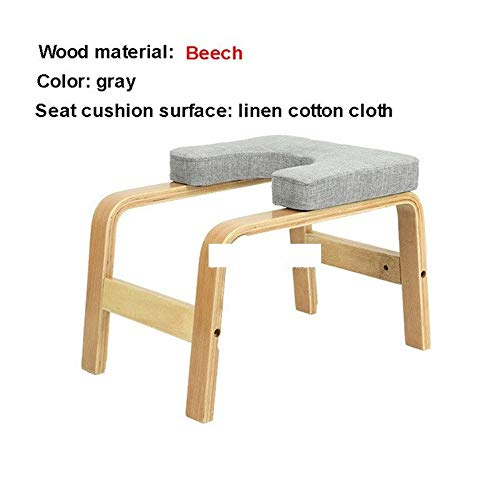 Yoga Stuhl Einfache Holz Yoga Inverted Handstand Bench Yoga Assistance Hilfstrainingshandstand Stuhl Startseite Haushalt Mini Fitness Bank Inversion Ausrüstung ( Color : Silber , Size : Kostenlos )