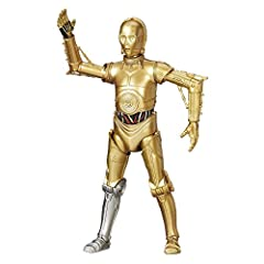 Includes 6 inch scaled C-3PO action figure. C-3PO is approximately 5.25 inches tall. Exclusive version with a silver lower right leg.