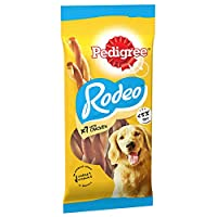 Let your dog enjoy mouth-watering twists of flavour with a deliciously chewy texture thanks to Pedigree Rodeo, a tasty addition to training time When training your dog, choose Pedigree for a small and delicious snack designed with adult dogs in mind....