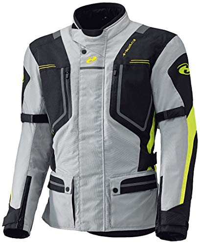 Held Zorro - Giacca in tessuto per moto, colore: grigio/giallo fluo, taglia XS