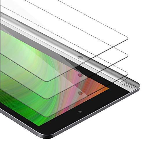Cadorabo Película de Armadura 3X Compatible con Lenovo Yoga Tab 2 (10.1') - película Protectora en Transparencia ELEVADA Paquete de Vidrio Templado en dureza 9H con compatibilidad táctil 3D