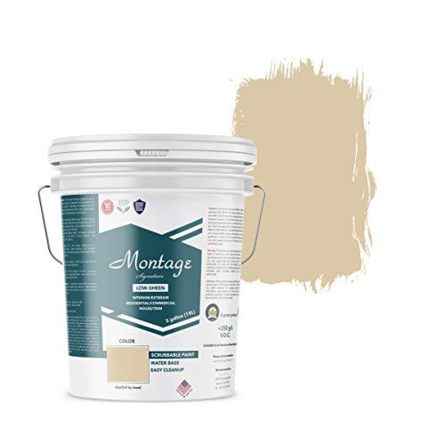 Montage Signature Interior/Exterior Eco-Friendly Paint, Navajo White - Low Sheen, 5 Gallon