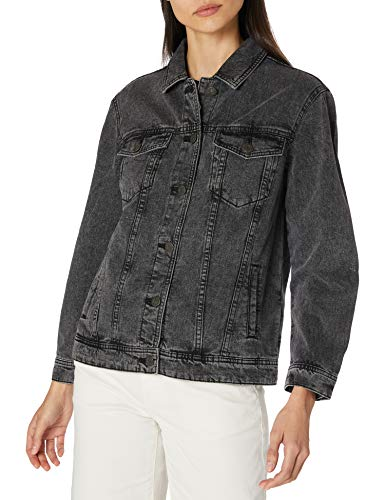 Noisy may Damen NMOLE L/S Jacket DG S Jeansjacke, Dark Grey Denim, XL