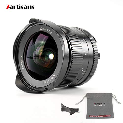 7artisans 12mm f2.8 APS-C Weitwinkel manuell Fixiertes Objektiv für Fuji X Mount Kamera wie X-A1 x-a10 x-a2 x-a3 x-at M1 XM2 X-T1 x-t10 x-t2 x-t20 X-Pro1 x-pro2 X-E1 X-E2 x-e2s