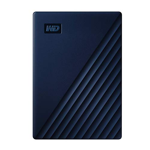 WD My Passport for Mac externe Festplatte 5 TB (mobiler Speicher, USB-C-fähig, WD Discovery Software, Passwortschutz, für Mac formatiert, einfach einzusetzen) blau