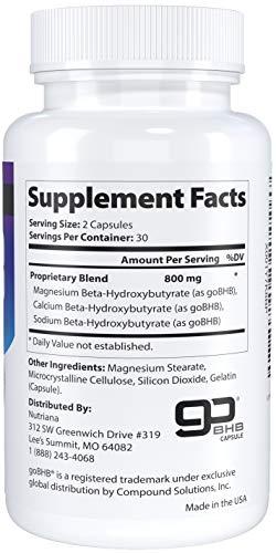 Nutriana Keto Diet Pills - Ketogenic Keto Pills for Women and Men - Keto Supplement BHB Salts - Keto Fast Exogenous Ketones - Ketosis Keto BHB Pills 60 Capsules 30 Day Supply 8