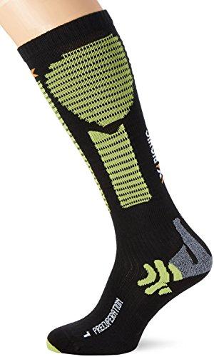 X-SOCKS Precuperation Chaussettes de Compression Mixte Adulte, Noir/Acid Green, FR : M (Taille Fabricant : 35-38)