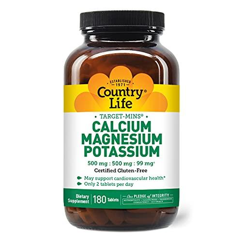 Country Life Target Mins Calcium Magnesium Potassium 500mg/500mg/99mg...